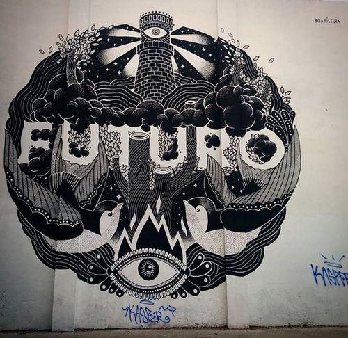 @boamistura Streetartbcn Artalcarrer Barcelonastreetart Barcelona Instastreetart Instaphoto Tv_streetart