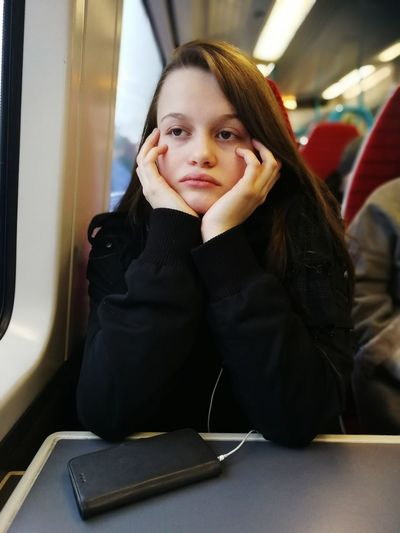 Gatwick Express Gatwick Gatwick Airport Public Transportation Train Travel One Woman Only One Person Only Women Portrait Business Finance And Industry Sitting Adult People One Young Woman Only Young Adult Beautiful Woman Young Women
