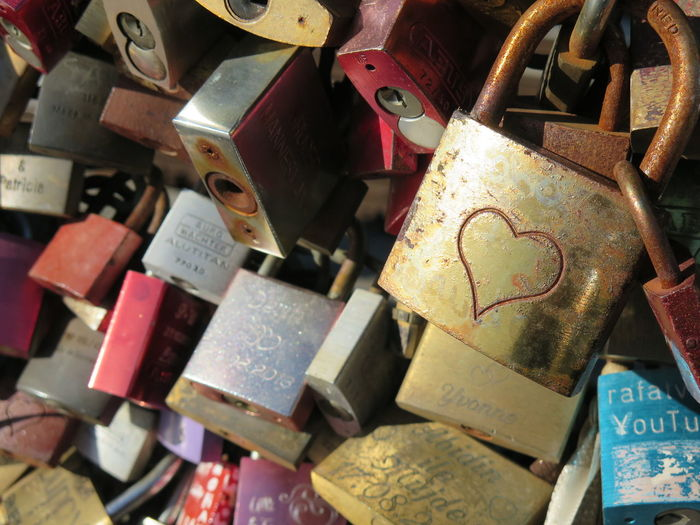 Getty X EyeEm Padlocks Abundance Bridge - Man Made Structure Close-up Communication Day Emotion Focus On Foreground Hanging Hope - Concept Landscape Large Group Of Objects Lock Love Love Lock Metal No People Outdoors Padlock Positive Emotion Protection Safety Security Text