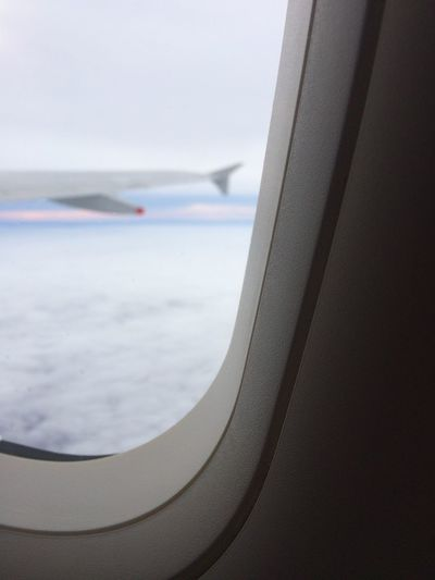 Airplane Transportation Sky Window Journey Flying Sea Vehicle Interior Horizon Over Water No People Air Vehicle Day Airplane Wing Close-up Indoors  Runway