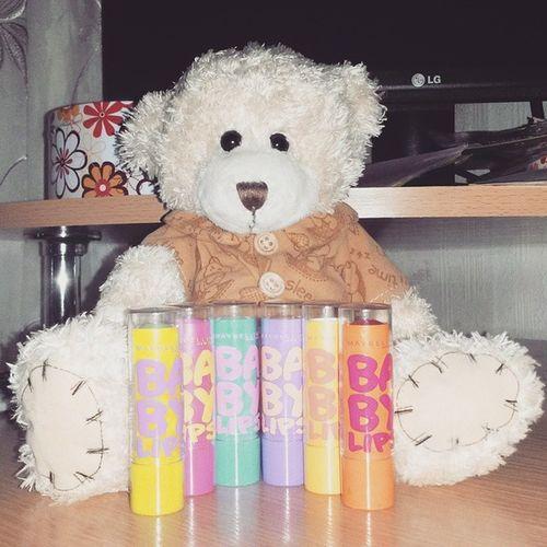 обожаю их 😍😍😍 поднимаютнастроение счастьямногонебывает Lips Maybelline Colour Beautiful Bear Babylips My Makeup Lipstick Best  Followme Enjoy Cosmetics