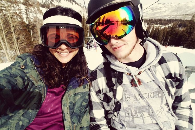 Warm Clothing Snowboarding Friendship Portrait Ski Holiday Snow Bonding Smiling Togetherness Cold Temperature