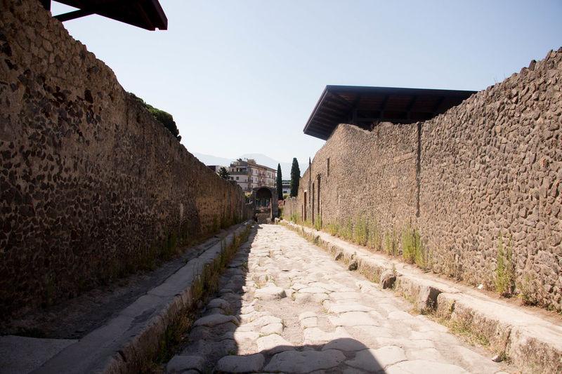 Ancient Civilization Architecture Clear Sky Day Italia Pompei Scavi Pompeii Ruins Ruinas