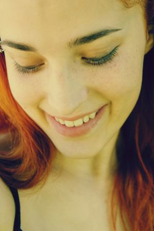 NoEffects  Ginger EyebrowPiercing Smile Portrait Gingers Freckles