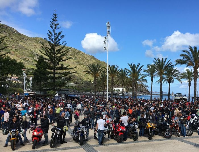 Machico Madeira Motor bike rally and music festival on the sea front of Machico. This happens once a year. Bikers Bikers Festival Machico Madeira Island Madeira Island Madeira Island Portugal Motorbike Rally And Music Festival Biker Cloud - Sky Crowd Helmet Large Group Of People Machico Motor Bikes Motor Cycle Club Motorbike Rally Motorbikes Motorcycle Outdoors Palm Tree Real People Seafront Transportation Tree EyeEmNewHere