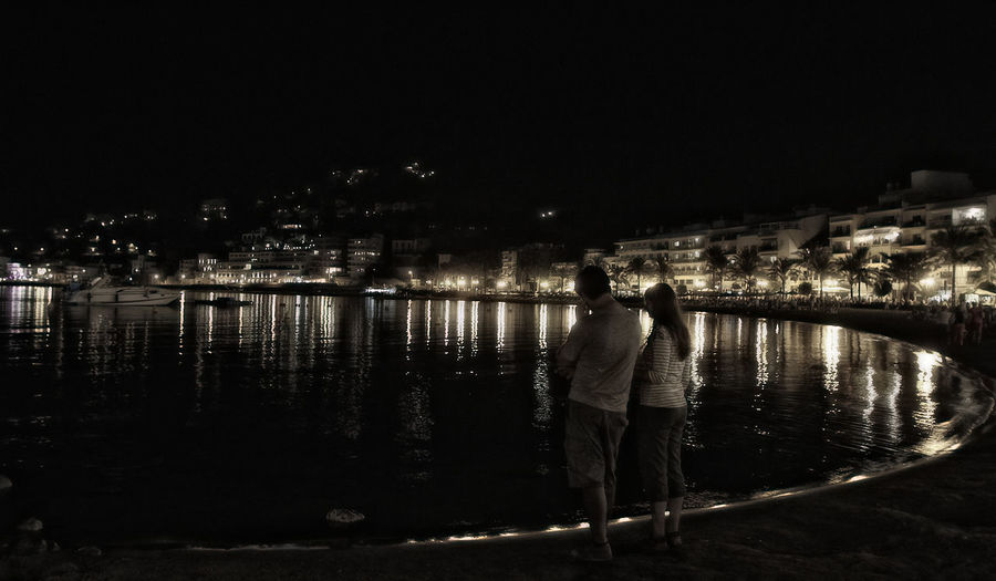 Couple Nigth Landscape Port De Sóller Seashore Architecture Building Exterior Built Structure City Full Length Illuminated Lifestyles Mallorca Beach Men Night One Person Outdoors People Real People Reflection River Sky Standing Walking Water