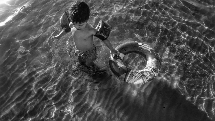 The Journey Is The Destination Blackandwhite Photography On The Beach Sea And Sun Beauty In Nature Beachphotography Blackandwhite Summer Views Kids Toys Childhood Malephotographerofthemonth Capture The Moment Summer Sun Reflection On Water Sea_collection Kidsphotography View From Above Black And White Sunlight Reflections In The Water