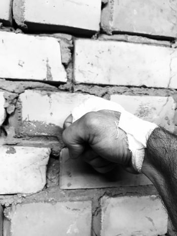 Human Hand Human Body Part One Person Real People Close-up Men Day Outdoors People Boxing Wall Black And White