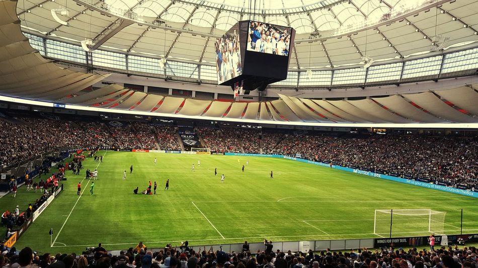 Vancouver Whitecaps Football Stadium BC Place Soccer Football Vancouver British Columbia MLS