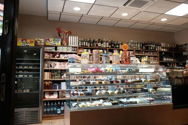 Aerial view of display at store