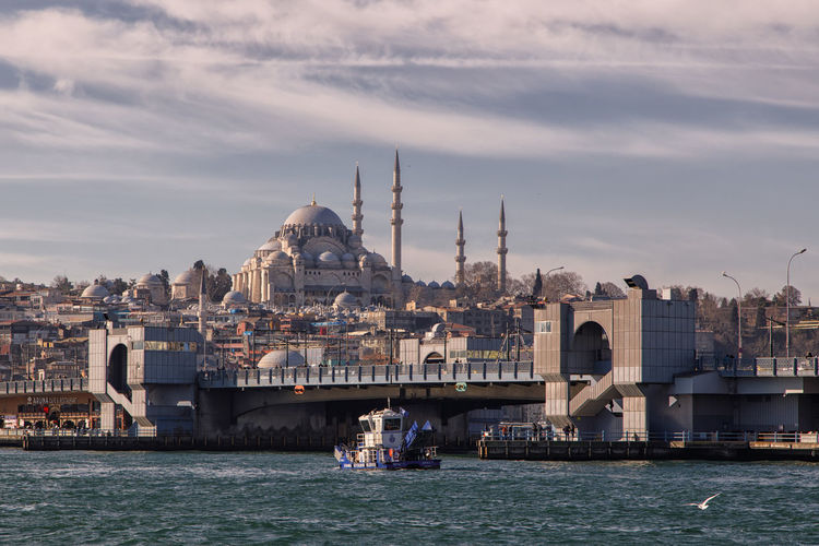 Istanbul Mosque Minaret Architecture Building Exterior Built Structure Water Sky Transportation Nautical Vessel Travel Waterfront Travel Destinations Cloud - Sky Mode Of Transportation City Tourism Nature Building Dome Religion Place Of Worship Outdoors Cityscape No People Passenger Craft