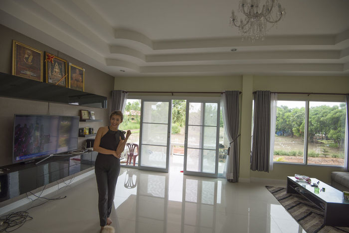 Beautiful house interior Architecture Beautiful Ceiling Home Thai Thailand Architecture Day Full Length House Indoors  Interior Leisure Activity Lifestyles One Person People Real People Staggered Standing Window Young Adult