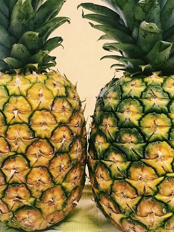 Pineapple fest! Fruit Pineapple Food Healthy Eating Freshness Close-up Tropical Fruits Yellow Healthy Lifestyle Healthy Food Food Art Pairs Duplets Double Two Is Better Than One Sommergefühle Paint The Town Yellow