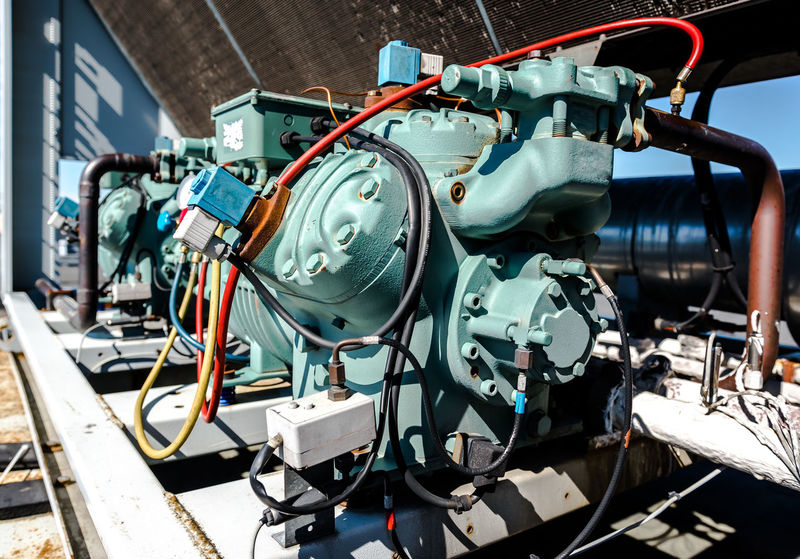 Air conditioning compressor Air Conditioning Cooling  Electric Machinery Motor Power Refrigeration Appliance Close-up Compressor Condenser Conditioner Cooler Electrical Energy Equipment No People Refrigerant System Technology Temperature Ventilate Ventilation Ventilator Warm