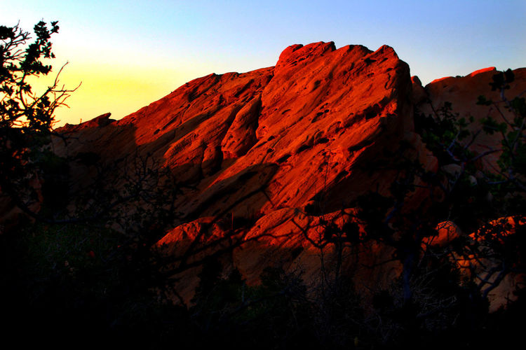 Beauty In Nature Geology Landscape Mountain Physical Geography Rock Formation Sunset The Devil's Punchbowl Tranquil Scene Tranquility Devil's Punchbowl Pearblossom, Ca Colour Of Life The Great Outdoors - 2016 EyeEm Awards