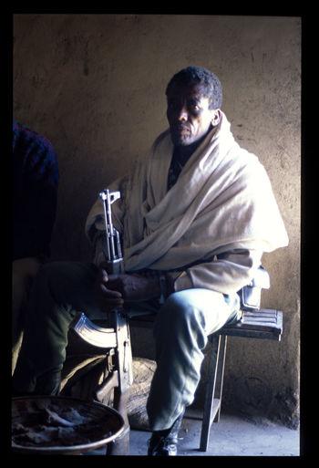 Ethiopa Guitar Kalashnikov Man Mountain Simien Park