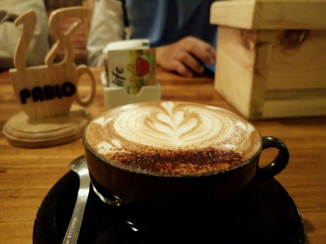 ☕ time Cafee  Coffee Time Relaxing Coffelover Coffee - Drink Indoors  Drink Cappuccino Food And Drink Refreshment Froth Art Frothy Drink Cafe Latte One Person People Close-up Table