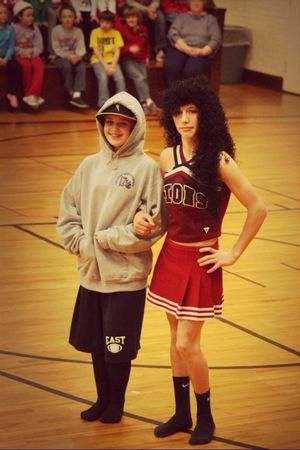 He's been my best friend since 5th grade. We have been through everything together, and I plan to go through much more. #8thgrade #bestfriend #throwbackthursday #peprally #Brandon