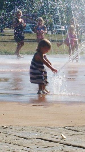 Motion Splashing Water Outdoors Summer 2016 Authentic Moments Enjoying Life