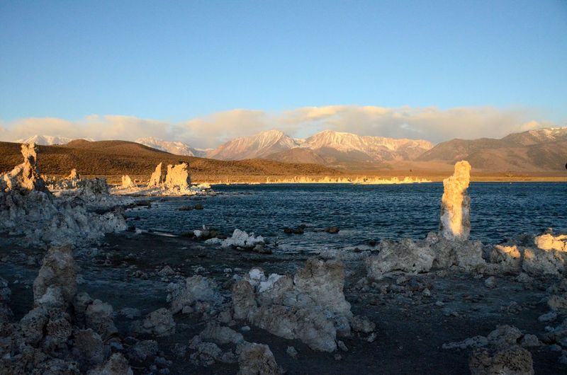 Beauty In Nature Beauty In Nature Lake Mono Lake Nature Non-urban Scene Outdoors Remote Rock Formation Scenics Sky Stone Sunrise Sunrise_sunsets_aroundworld Tranquil Scene Tranquility