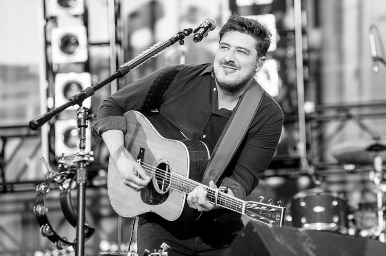 Marcus Mumford of Mumford & Sons live at BST Hyde Park Music Photography  EyeEm Best Shots Music Is My Life Concert London British Summer Time The Essence Of Summer Blackandwhite Black And White Photography Music