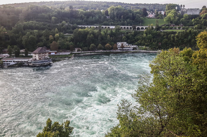 Rhinefalls Architecture Beauty In Nature Built Structure Day Growth Motion Nature No People Outdoors Rhine River River Scenics Schaffhausen Sky Switzerland Tranquil Scene Tranquility Travel Destinations Tree Water Waterfall