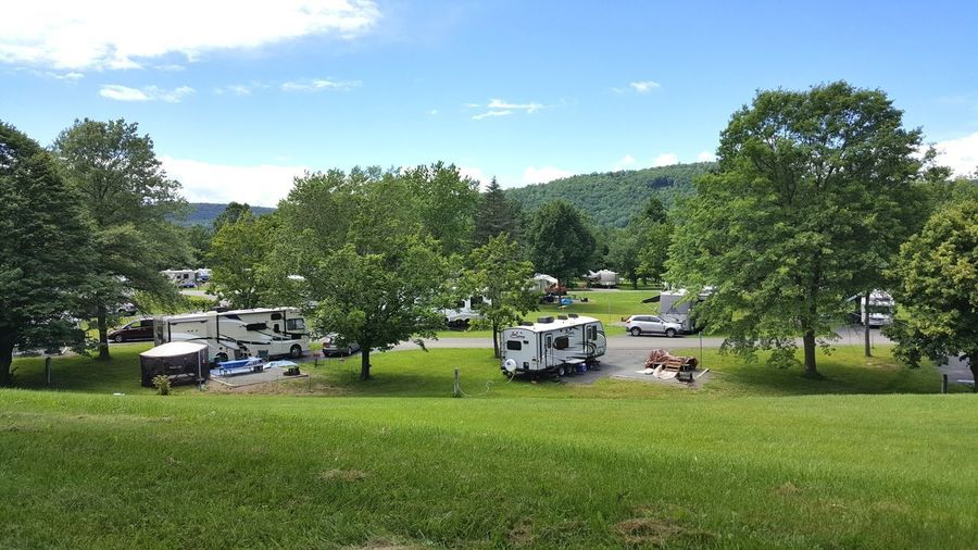 RV camping Grass Outdoors Nature Summertime Tranquility Summervibes Landscape Vacations Summer2016 Rvpics Travel Photography Traveling Campinglife Campsite