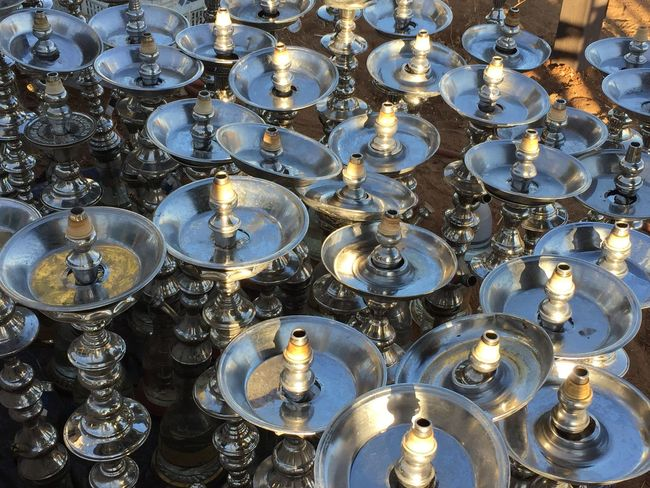 hookah, pipe, shisha, nargile Abundance Arrangement Burning Circle Decoration Full Frame Geometric Shape Glass - Material Glowing Group Of Objects In A Row Indoors  Large Group Of Objects No People Place Of Worship Repetition