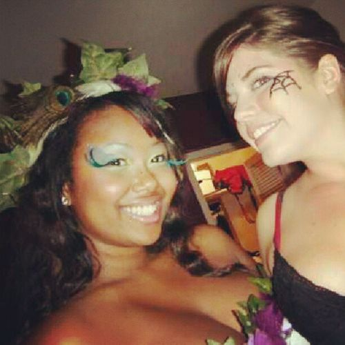 Poison ivy and black widow Raves TBT  Spookfest @tara4allmankind