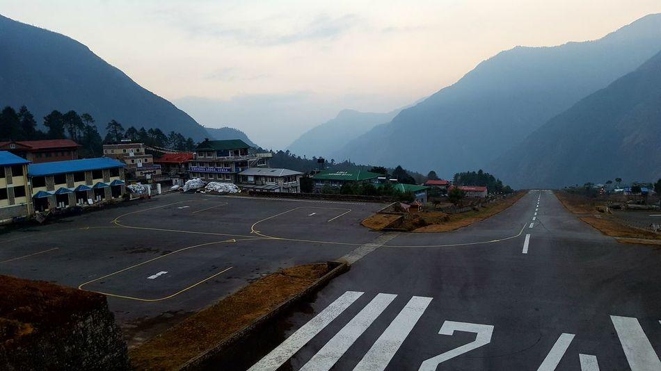 City Lukla Mountain Mountain Range No People Outdoors Transportation
