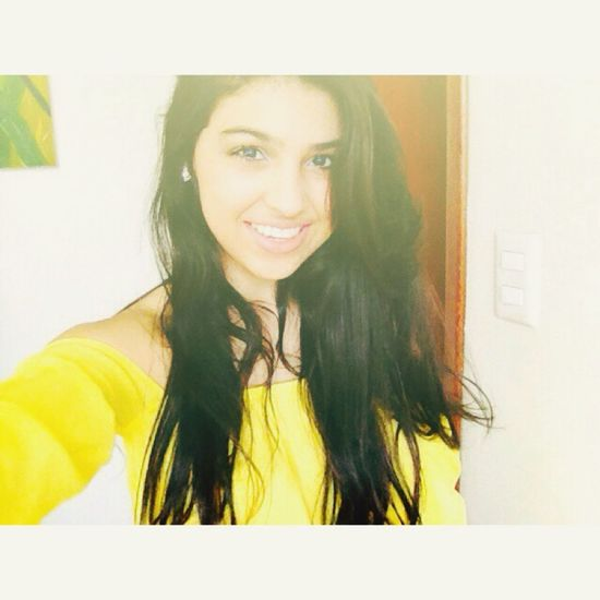 I Smille No Matter What Braziliangirl Summer Yellow Hello World Smile Happy That's Me ??????????