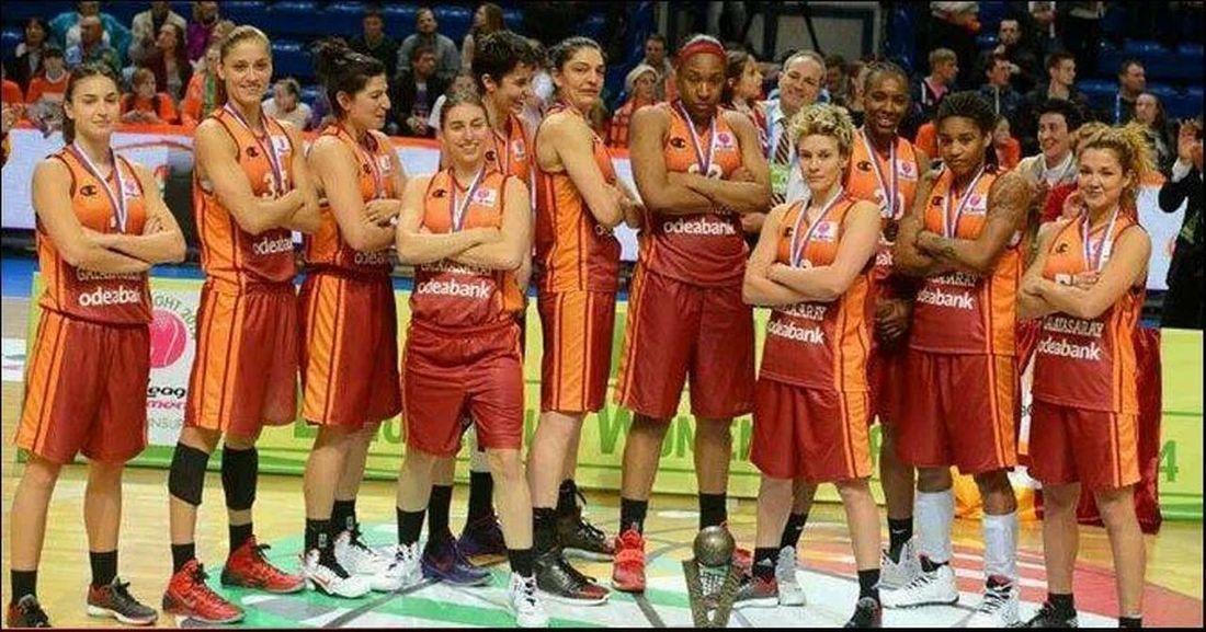 women basketball euro leuge champion's Galatasaray GalataSaray Sampiyon GALATASARAY Hello World uyan fenev senden buyuk aslan var!!!