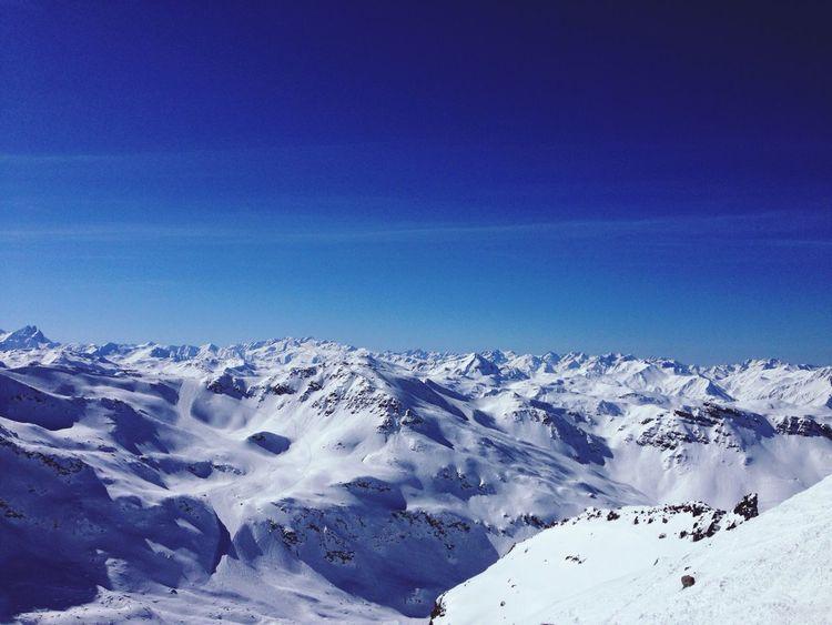 Perfect Day Skiing Meribel Dad