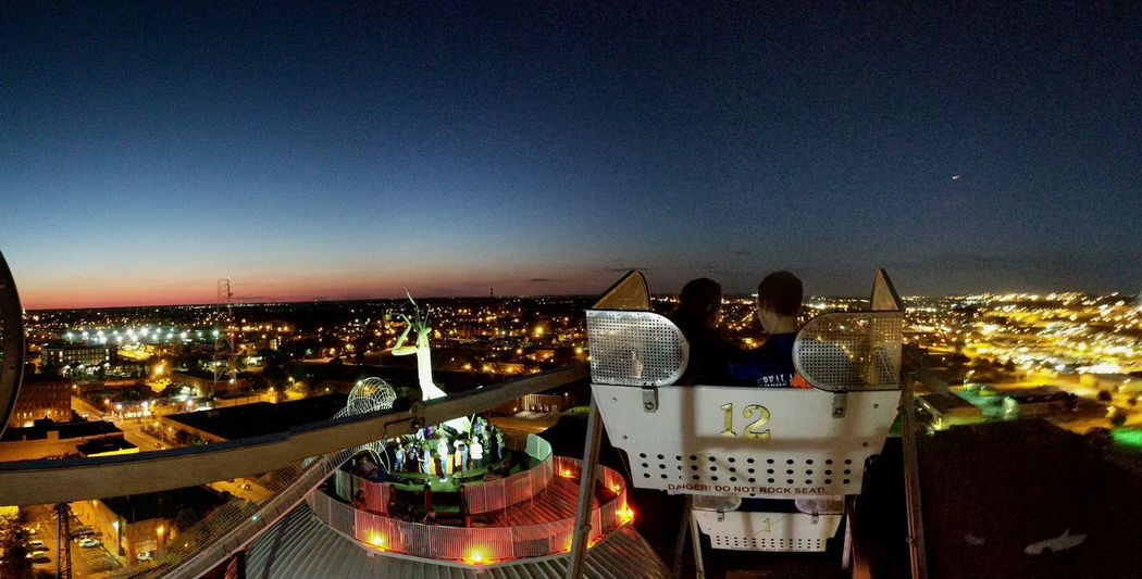 Night Cityscape Outdoors St Louis Ferris Wheel