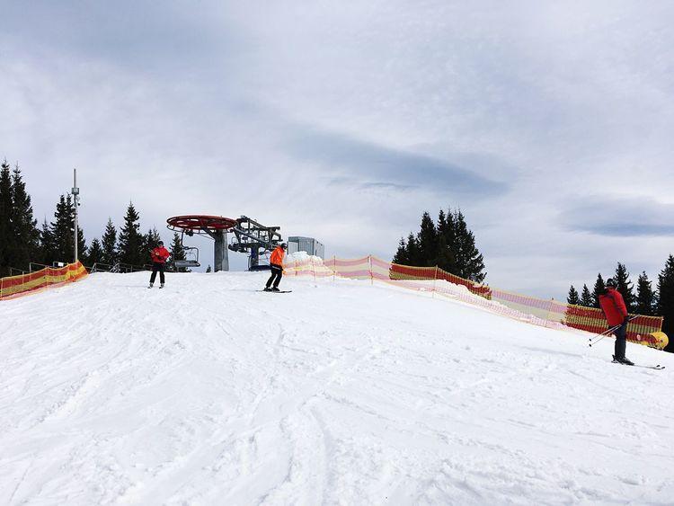 Ski Ski Lift Snow Mountain Carpathians Ukraine Bukovel