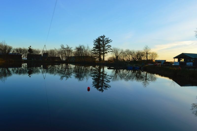 More reflections at Glasfryn Wakepark. Lake View Wakeboarding North Wales Sunset Sillouette The Great Outdoors - 2016 EyeEm Awards