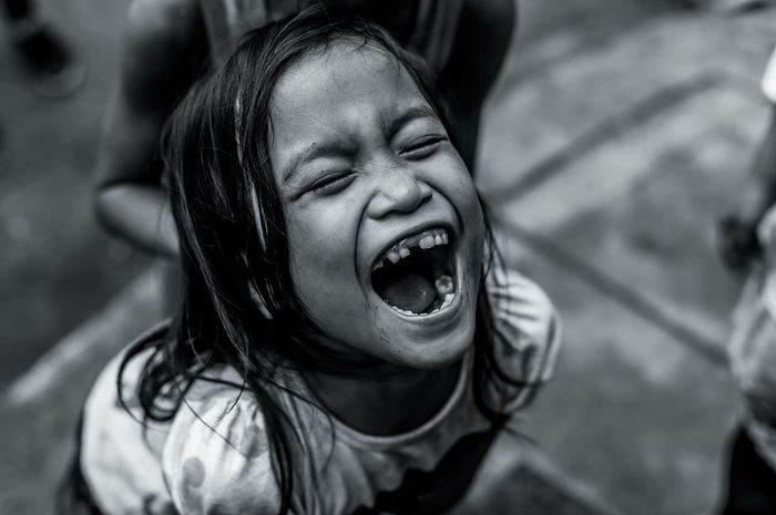 Shouting Mouth Open Screaming Close-up Childhood People Outdoors Eyeem Philippines Real People EyeEmNewHere