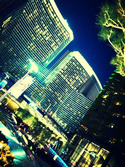 Vegas  Aria Spring Flashy Lights Hotels And Resorts Amazing Architecture