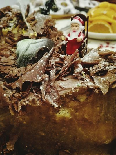 The Christmas Cake Christmas Christmas Ornament Childhood Chocolatecake Close-up My Smartphone Life Fresh On The EyeEm Showcase: December Fresh On The Market 2016 Huawei P8 Lite Food Photography Chocolate Covered