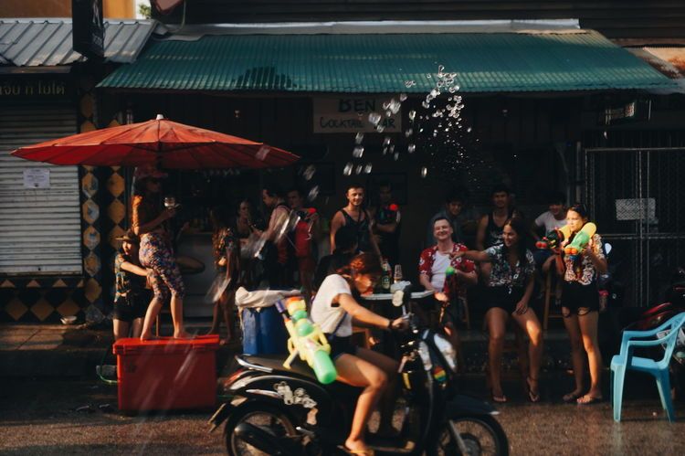 Scooter Songkran Festival Water Gun Thailand Party The Street Photographer - 2016 EyeEm Awards