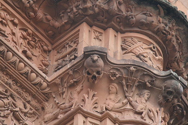 Relieve building Art And Craft Creativity Low Angle View Architecture Built Structure Building Exterior History Outdoors Salamanca Spain