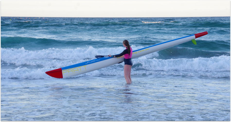 Beach Beachphotography Beuty Of Nature Getting Ready Girl Girl Power Gold Coast Paddle Queensland Race Day Rowing Rowing Club Waves