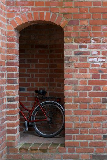 Architecture Bicycle Brick Wall Crusader Day Door Entrance Malbork Malborkcastle No People Outdoors Poland