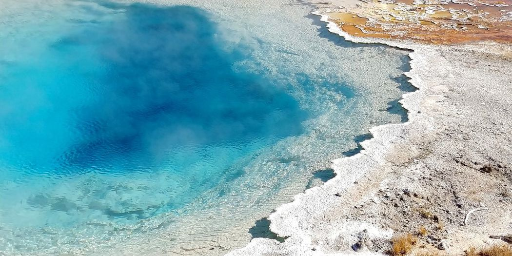 Abyss pool. yellowstone national park. october 2019