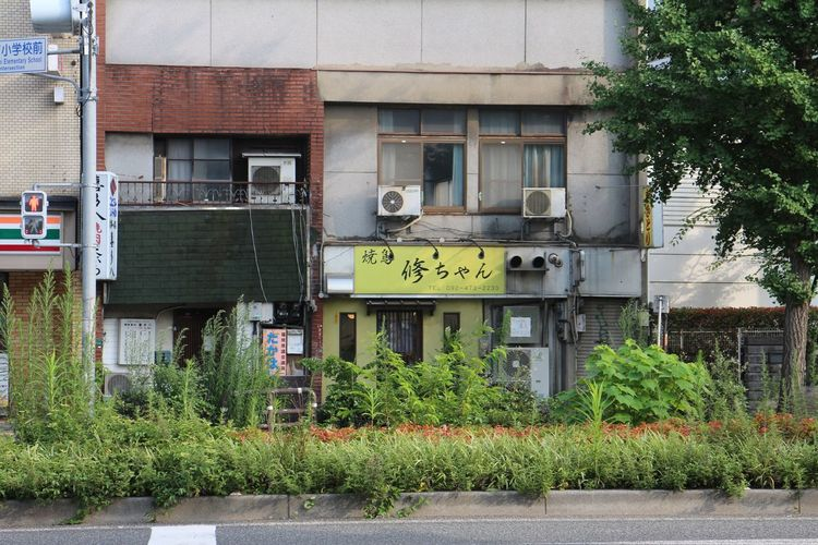Architecture Building Exterior Built Structure Text Plant Outdoors Communication Tree No People Day Japan 2016. 7월 일본 후쿠오카 여행. 조용하고 친절한 도시