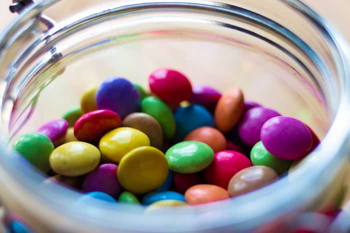 Sweet colored candy MR7 Abundance Bowl Candy Canon Close-up Container Food Food And Drink Freshness Glass - Material Indoors  Indulgence Jar Jardin Large Group Of Objects Multi Colored No People Selective Focus Still Life Sweet Sweet Food Sweets Temptation Unhealthy Eating
