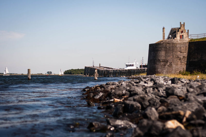 Veere [NL] - Harbour Harbour Harbour View Architecture Built Structure Fort Fortress Fortress Wall History Ship Stones Stones & Water Water Stronghold An Eye For Travel