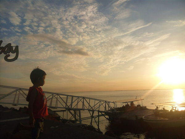 Sunset Water Sea Sun Horizon Over Water Scenics Tranquil Scene Sky Beauty In Nature Childhood By The Bay
