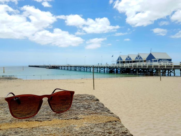 Horizon Over Water Beach Sand Sea Summer Sky Vacations Blue No People Clear Sky West Australia Perth Australia White Building With Blue Sky Perth Architecture Sunglasses busselton jetty