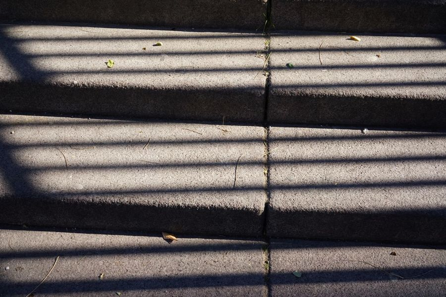 Steps And Staircase Shadow Sunlight Pattern Day No People Full Frame Backgrounds Outdoors High Angle View Close-up Road Architecture City Street